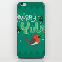 Merry Yule Greetings Design iPhone Skin