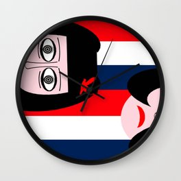 bbnyc: french femme in parts Wall Clock