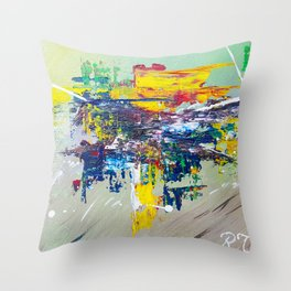 Equestria: Exciting Countryside Abstract Throw Pillow