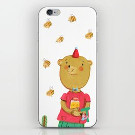 Honey Bear, Busy Bees iPhone Skin