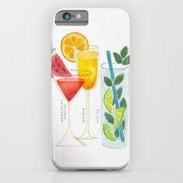Summer Cocktail Trio iPhone Case