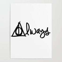 Always, Deathly Hallows, Harry Potter Poster