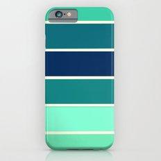 Stripes Aqua & Teal  iPhone 6 Slim Case