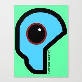 Futuristic Cyborg Logo 4 Canvas Print