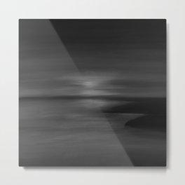 Misty Pacific Northwest 10 - Abstract Modern - Moonlight Black Midnight Gray Dark Charcoal Metal Print