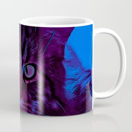 squinting maine coon cat vector art night from day Coffee Mug