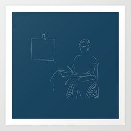 Frida Kahlo in her Chair Art Print