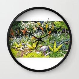 AllenbyArt Glass Garden Landscape Scenery, A Marvelous Piece of Art, Photography,  Wall Clock