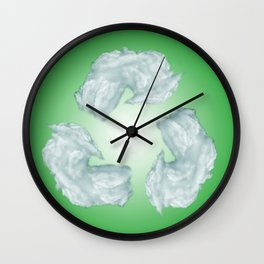 recycling eco symbol Wall Clock