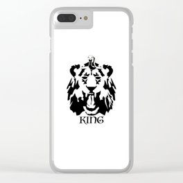 Royalty - Black on white Clear iPhone Case
