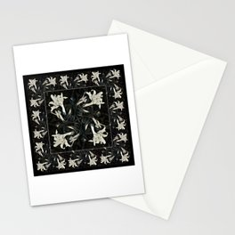 Black and White Lilies Stationery Cards