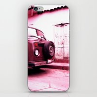 vw bus iPhone & iPod Skins featuring VW Bus 17B by Julia Aufschnaiter