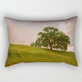Tree On The Hill Rectangular Pillow