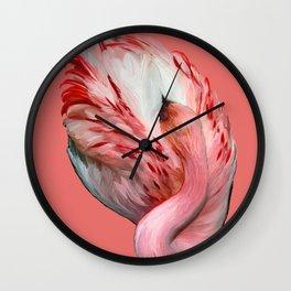 Sleeping Flamingo (flamingo pink) Wall Clock