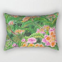 A Colorful Stroll Rectangular Pillow