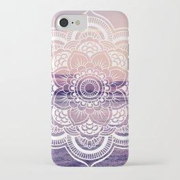 Water Mandala Amethyst & Mauve iPhone Case