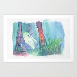 Little monster watercolor Art Print