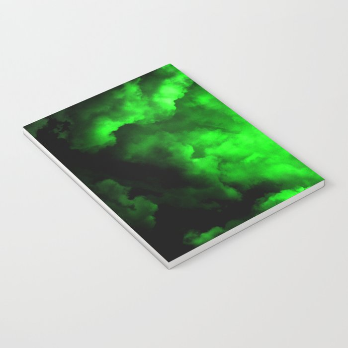 Envy - Abstract In Black And Neon Green Notebook