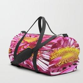 Pink Starburst Flowers Duffle Bag