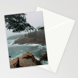 Foggy Morning in Acadia National Park Stationery Cards