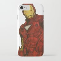 iron man iPhone & iPod Cases featuring Iron Man by DeMoose_Art