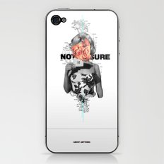 Not Sure About Anything iPhone & iPod Skin
