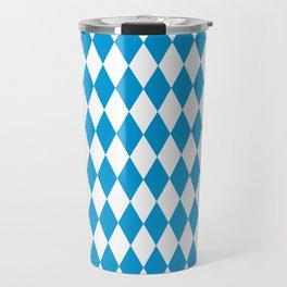 German Bavarian Pattern Oktoberfst Travel Mug