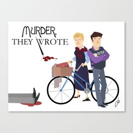 Murder They Wrote Canvas Print