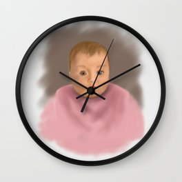 Thoughtful Baby Face Wall Clock