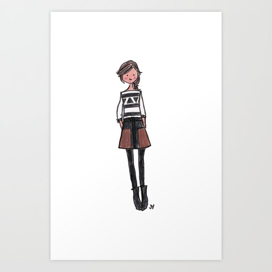 Brown + Black Art Print