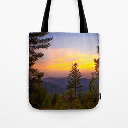 Chalk Bluff Sunset Tote Bag