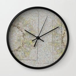 Preadoption Roughness Flowers  ID:16165-144834-10211 Wall Clock