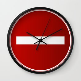 prohibition Wall Clock