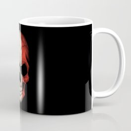Dark Skull with Flag of France Coffee Mug