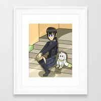 digimon Framed Art Prints featuring Digimon - Dear Friends by MinawaKittten