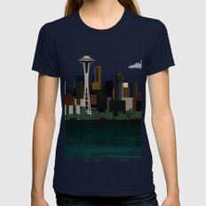 Seattle Navy X-LARGE Womens Fitted Tee
