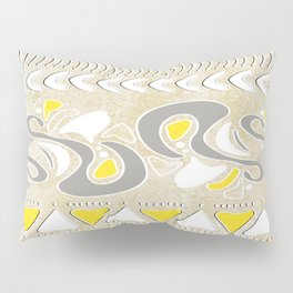 TRIBAL STAMP | oatmeal grey yellow Pillow Sham