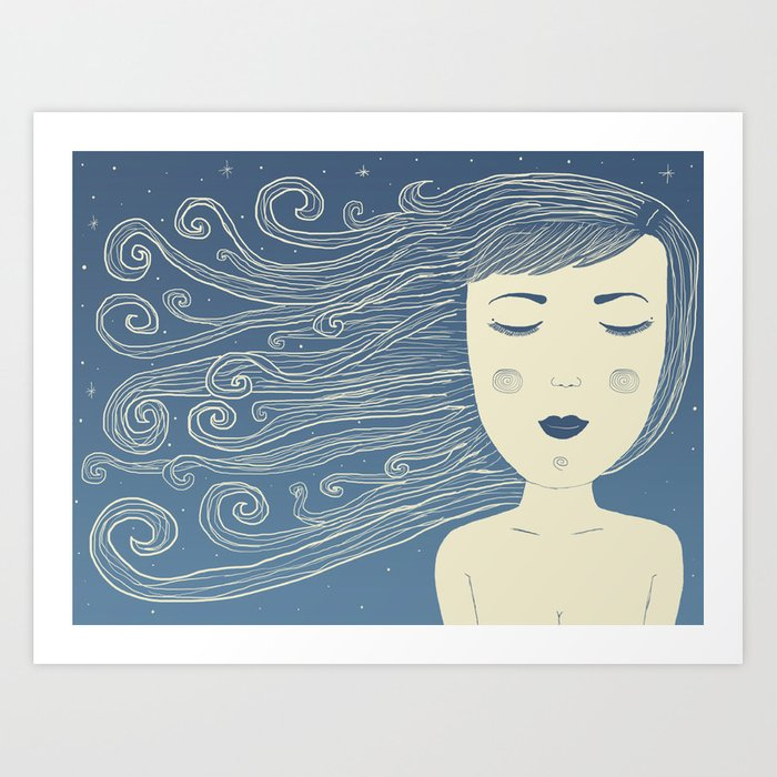 The Moon In Human Form Art Print
