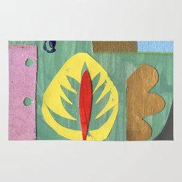 Yellow Leaf Rug