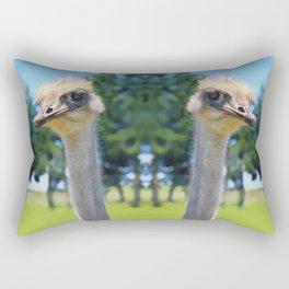 What! I AM AN OSTRICH so What! Rectangular Pillow
