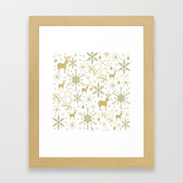 Winter pastel pattern design Framed Art Print