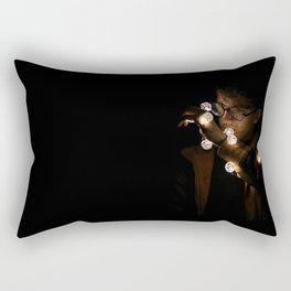 Looking at the lights Rectangular Pillow