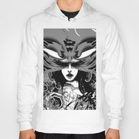 moth Hoodies featuring Moth by WES EXOTIC IMAGERY