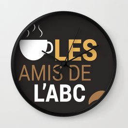 Les Amis Coffee Wall Clock