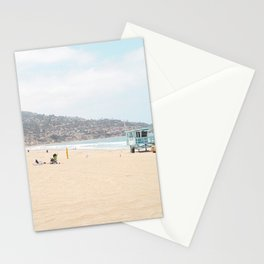 Redondo Beach // California Ocean Vibes Lifeguard Hut Surfing Sandy Beaches Summer Tanning Stationery Cards