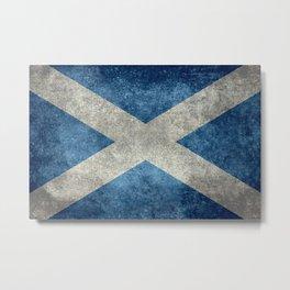 Scottish Flag - Vintage Retro Style Metal Print