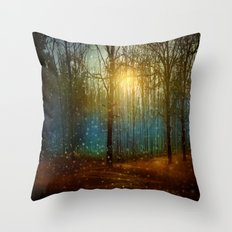 In seed time learn, in harvest teach, in winter enjoy. Throw Pillow