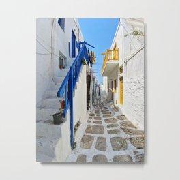 Series of stairs in Mykonos Metal Print