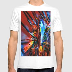 fish and paint Mens Fitted Tee White MEDIUM