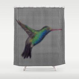 Hummingbird 2.0 by Lars Furtwaengler   Digital Interpretation   2013 Shower Curtain